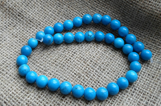 Strand of 10mm Howlite Beads