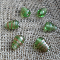 8 x Indian Glass Drop Beads