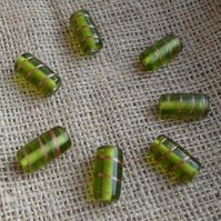 10 x Indian Glass Tube Beads