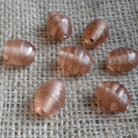 10 lovely Indian Glass Oval Beads