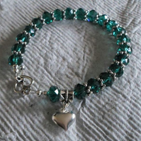 Gorgeous Green faceted bracelet