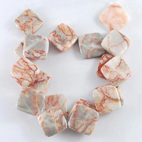 Strand of Red Zebra Jasper