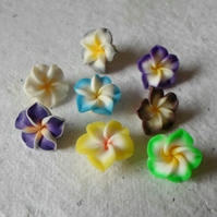 20 sweet 13mm Polymer Clay flowers