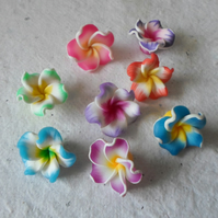 20 Sweet Polymer Clay Flower beads