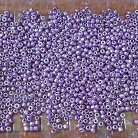 50 grams Shiny Violet Seed Beads