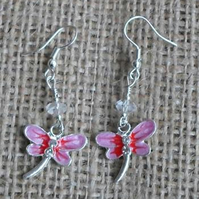 Sweet little Dragon fly earings