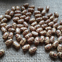 20 grams of Brown Wooden Rice beads