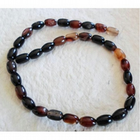 Strand of Fire Agate Rice Beads
