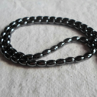 Strand of 6mm Haematite Rice Beads