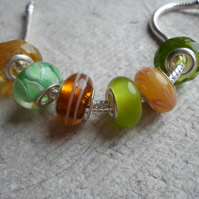 Pandora style Beads in Assorted Lemon and Lime