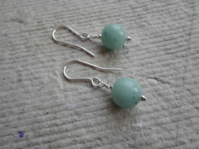Pair of 10mm Amazonite Earrings