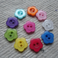 Assorted Colourful flower shaped Acrylic Buttons