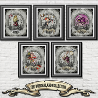Alice in Wonderland Tattoo Style Book page art print Dictionary