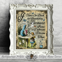 Alice in Wonderland Poster print, Wall Decor, Inspirational quote