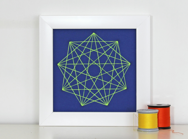 Geometric Thread Art - Mini Nine Point Star