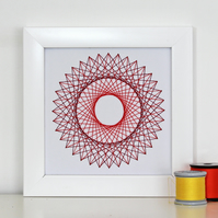 Geometric Thread Art - Mini Double Circle