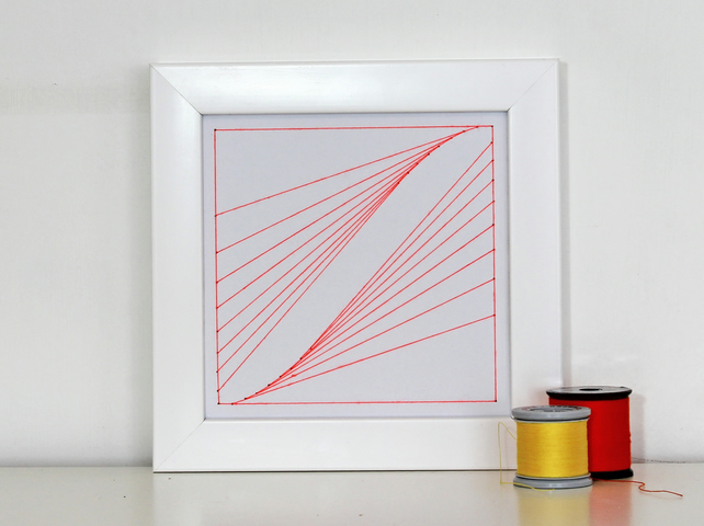 Geometric Thread Art - Mini Tractrix