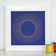 Geometric Thread Art - Mini Sunflower
