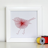 Thread Art Robin