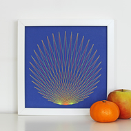 Geometric Thread Art - Sunrise