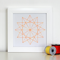 Geometric Thread Art - Mini Twelve Point Star