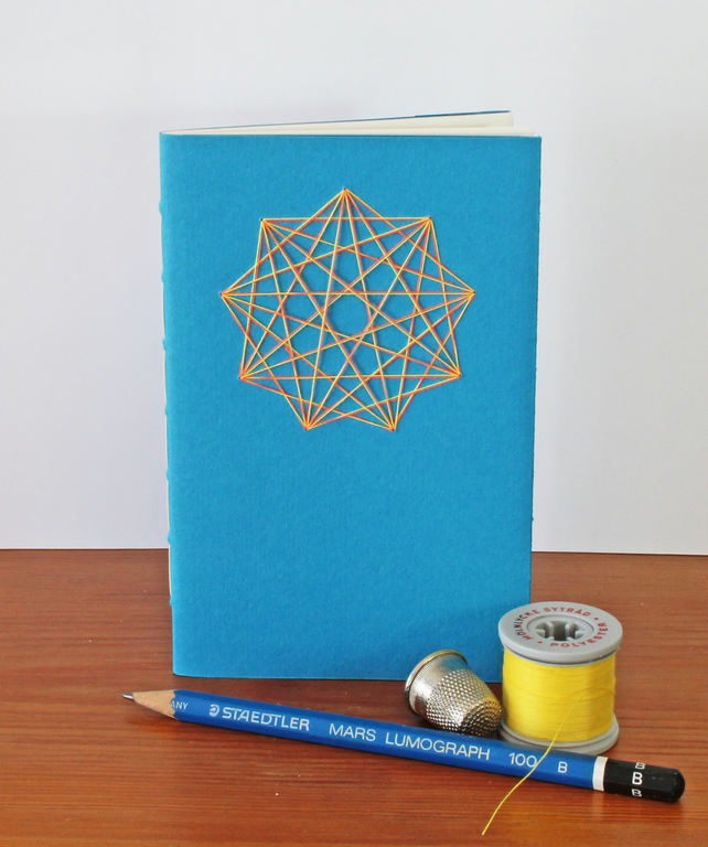 Thread Art Notebook - hand sewn