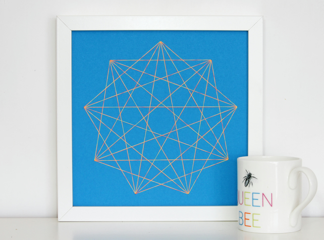 Geometric Thread Art - Nine Point Star