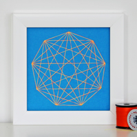 Geometric Thread Art - Mini Nine Point Rose