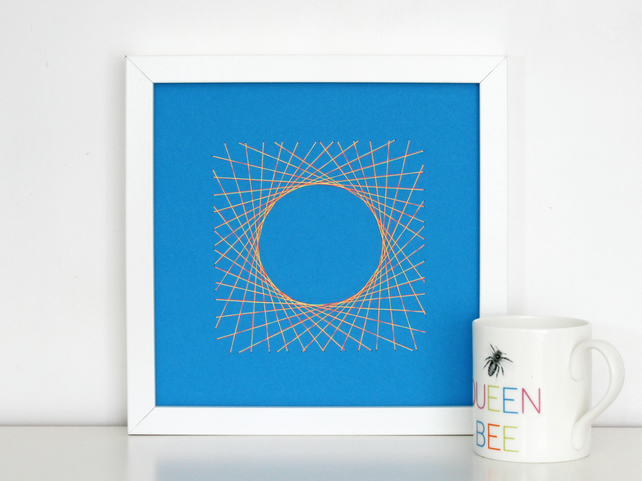 Geometric Thread Art - Circle in a Square