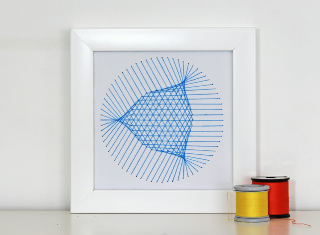 Geometric Thread Art - Mini Crossed Circles