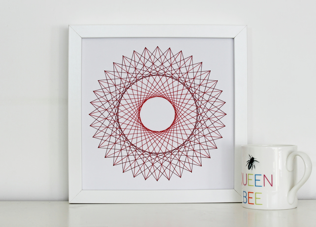 Geometric Thread Art - Double Circle