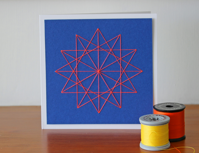 Luxury Thread Art Star Card