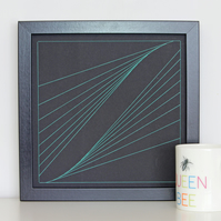 Geometric Thread Art - Tractrix
