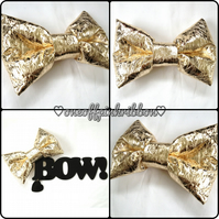 Crinkled Metallic Gold BOW!