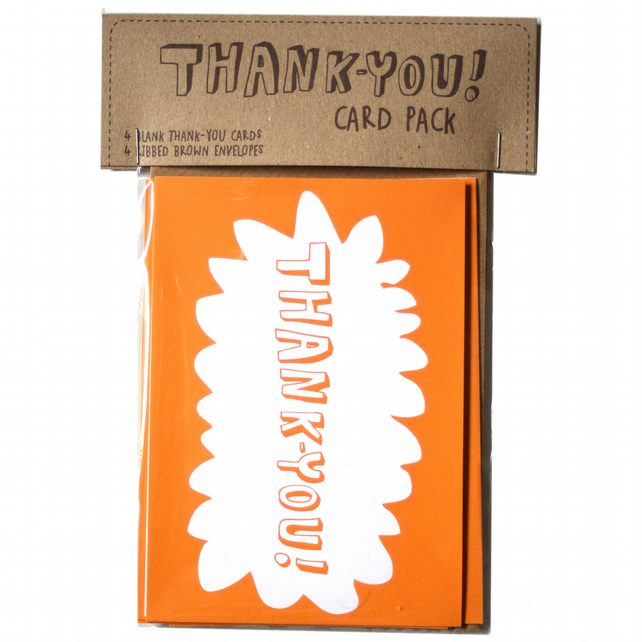 Blank thank you card pack