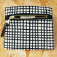 Coin Purse Grid Black and White