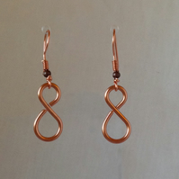 Copper infinity earring