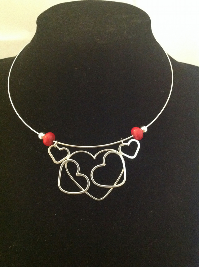 Red Hearts Collar