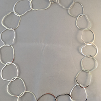 Oval loop necklace