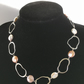 Coin pearl oval necklace