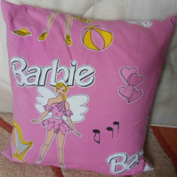 Homemade Barbie cushion cover. 100% cotton fabric