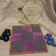 Homemade Tic Tac Toe fabric game. (set 1)