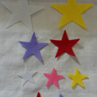Homemade star embellishments. pack of 9. Free postage