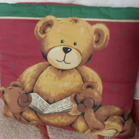 "Teddy Bear quillow. The quilt in a pillow.  74"" x 51"""