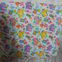 "Carebears quillow. The quilt in a pillow.  62"" x 46"""""