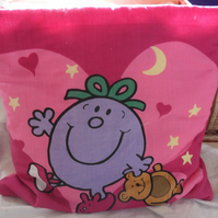 "Mr Men quillow. The quilt in a pillow.  73"" x 50"""