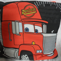 "Lightning Mcqueen and Cars characters quillow. The quilt in a pillow.  75"" x 49"""