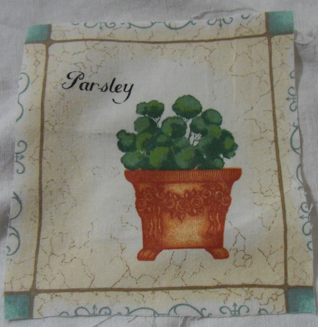 100% cotton fabric.  Parsley.  Sold separately, postage .62p for many