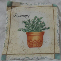 100% cotton fabric.  Rosemary.  Sold separately, postage .62p for many