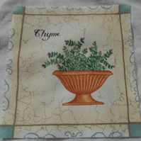 100% cotton fabric.  Thyme.  Sold separately, postage .62p for many